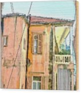 Do-00386 Old Building In Mar Mikhael Wood Print