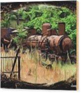 Do-00411 Old Train In Ryak Wood Print
