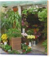 Do-00433 Florist In Gemmayzeh Wood Print