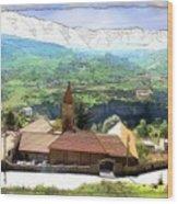 Do-00434 Church In North Lebanon Wood Print