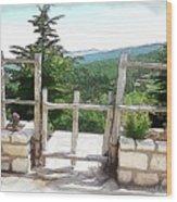 Do-00458 Fence Mar Charbel Chabel Wood Print
