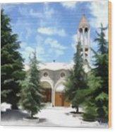 Do-00460 St Charbel Church Wood Print