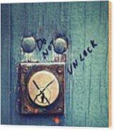 Do Not Unlock Wood Print