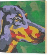 Doberman Wood Print