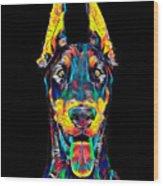 Doberman Dog Breed Head Pet Breed True Friend Color Designed Wood Print