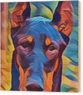 Doberman I C Wood Print