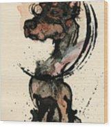 Doberman Wood Print by Mark M  Mellon