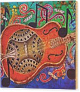 Dobro - Slide Guitar Wood Print
