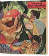 Doc Savage He Could Stop The World Wood Print