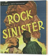 Doc Savage Rock Sinister Wood Print