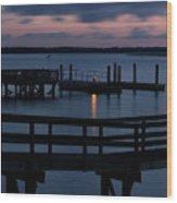 Dock Beacon Wood Print