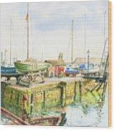 Dock Gate Dysart Harbour Fife Wood Print