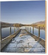 Dock In A Lake, Cumbria, England Wood Print by John Short