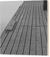 Dock In Black And White Wood Print