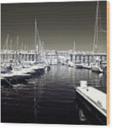 Dock In The Port Wood Print