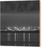 Dock Lights Dublin Wood Print