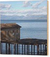 Dock Of Dreams South Lake Tahoe Ca Wood Print