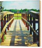 Dock On Alston Creek Wood Print