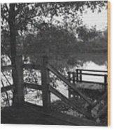 Dock On The Bayou Wood Print