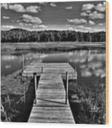Dock On The Moose River Wood Print