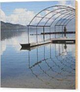 Dock Reflection Wood Print