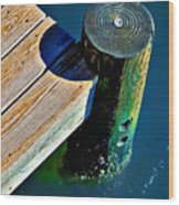 Dock Wood Print by Robert Smith