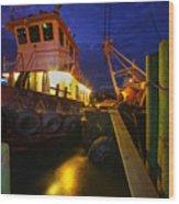 Dock Side Wood Print