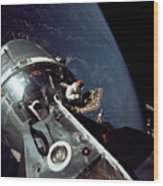 Docked Apollo 9 Command And Service Wood Print