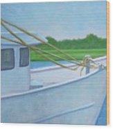 Docked At Calabash Wood Print