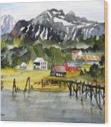 Docked At Haines Alaska Wood Print