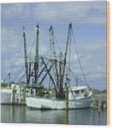 Docked In Port Orange Wood Print