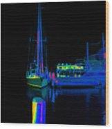 Docked Woy Woy 1.4 Wood Print