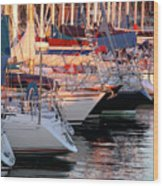 Docked Yatchs Wood Print by Carlos Caetano