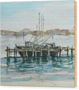 Docking Wood Print