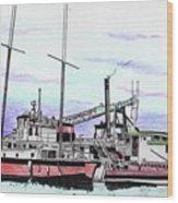 Docks N Boats Wood Print