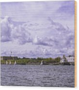Dockside At Fort Trumbull Wood Print