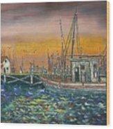 Dockside Wood Print