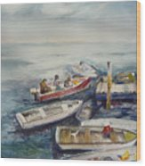 Dockside Wood Print by Dorothy Herron
