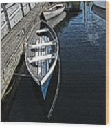Dockside Quietude Wood Print