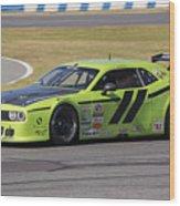 Dodge Challenger At Daytona Speedway Wood Print