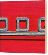 Dodge Wood Print
