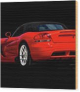 Dodge Viper 'red Tail' Roadster Wood Print