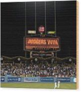 Dodgers Win Wood Print by Malania Hammer