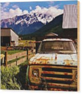 Dodging Mount Currie Wood Print