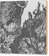 Doe And Weasel Wood Print