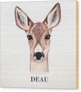 Doe Deer Wood Print