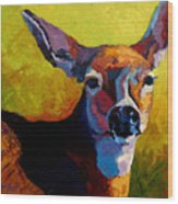 Doe Portrait V Wood Print
