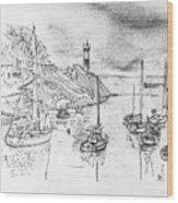 Doellan Sur Mer, Le Port Wood Print