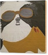 Dog Boss Wood Print