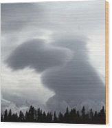 Dog Cloud Wood Print